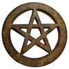 Pentagram Wood Altar Tile 4""