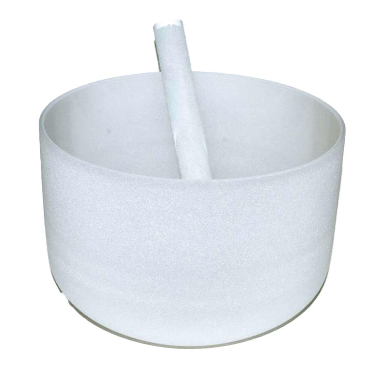 """Off White Crystal Singing Bowl 8"""""""