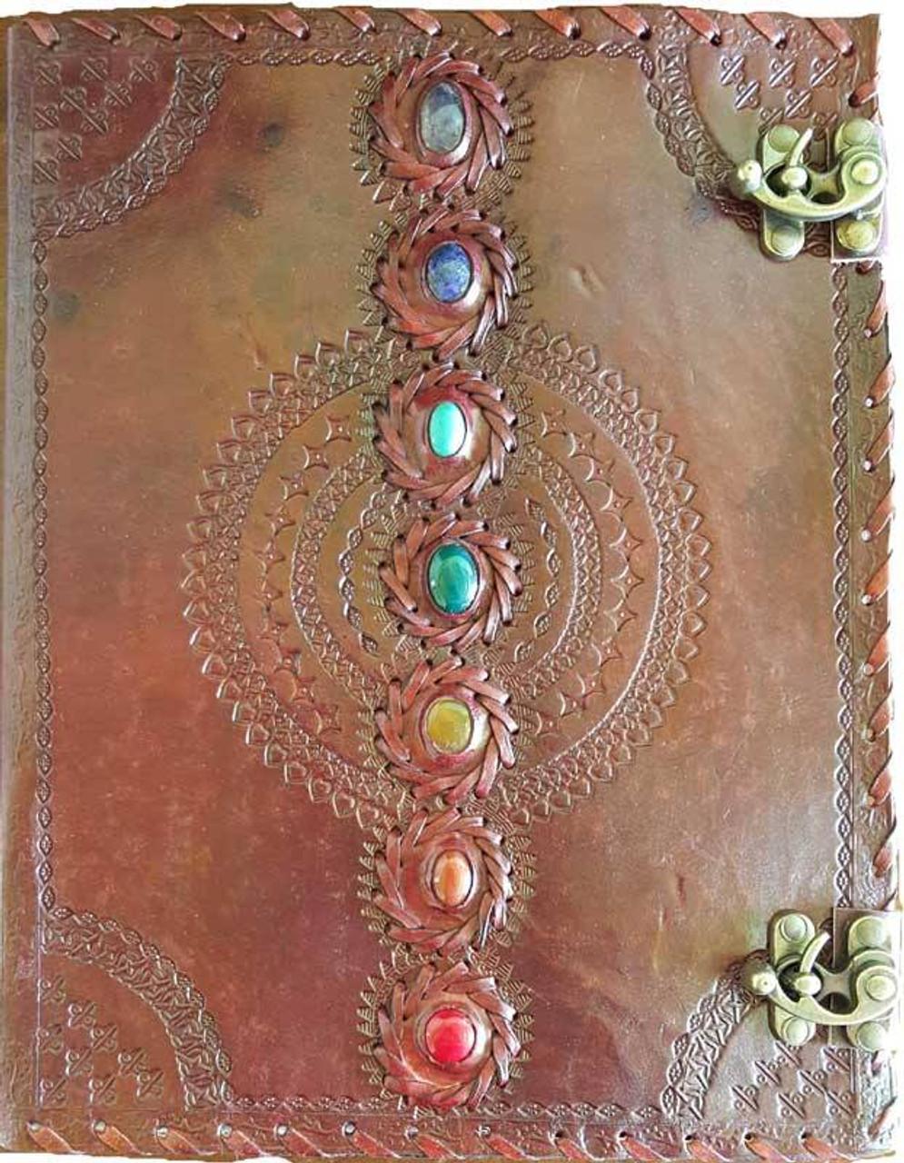 Chakra  Leather Journal w/ Latch