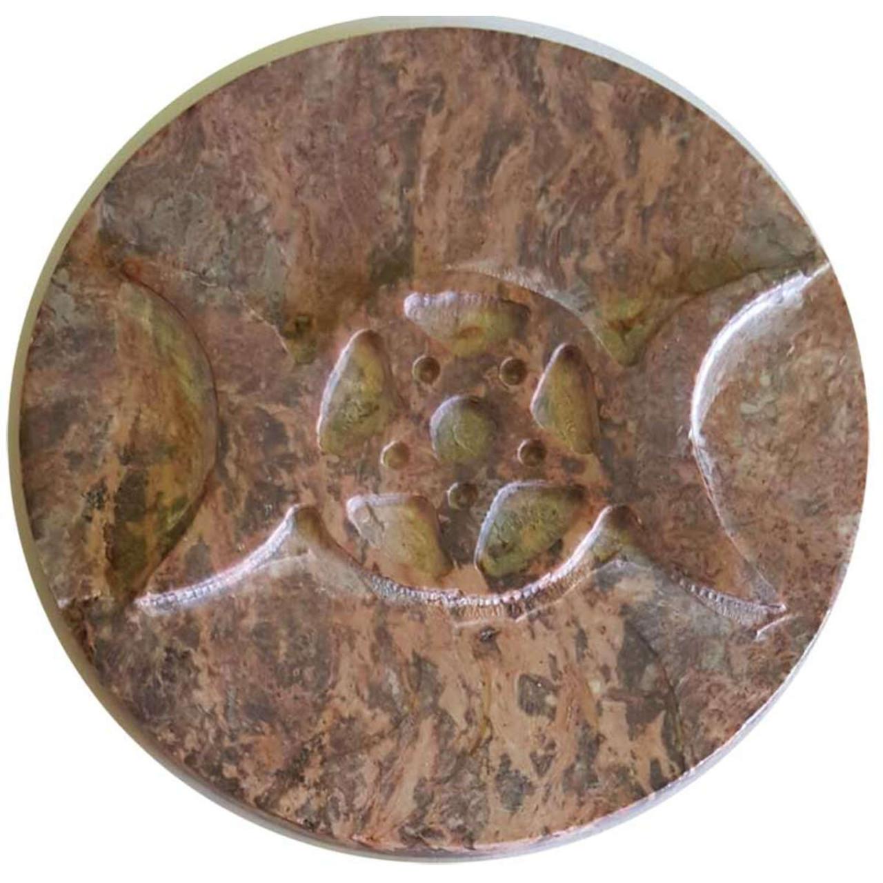 "Soapstone Triple Moon Altar Tile 3"""