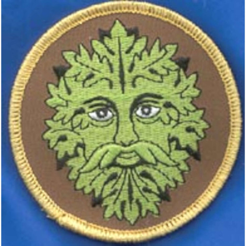 """Green Man Iron-on Patch 3"""""""