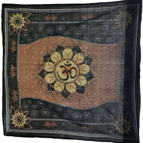 "Om Lotus Altar Cloth 36"" x 36"""