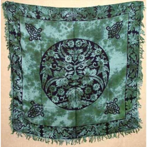 "Greenman Altar or Tarot Cloth 36"" x 36"""