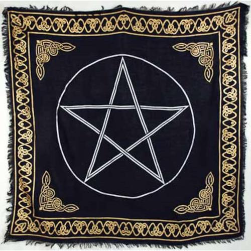 """Gold Bordered Pentagram 36"""" x 36"""""""