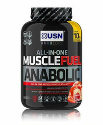USN USN Muscle Fuel Anabolic All in one Muscle Building Protein Shake with Creatine, Strawberry, 2.2 Kg