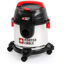Porter Cable Porter Cable Wet and Dry Vacuum Cleaner 19L, 1.5m Hose PCX19406-5B, Black
