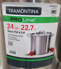 Tramontina Tramontina ProLine 22.7 Litre Stainless Steel Stock Pot with Lid