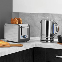 Dualit Architect Kettle and Toaster Set in Brushed Grey
