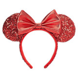 Disney Parks Ear Headband: Sequined Red
