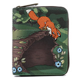 Loungefly Disney The Fox And The Hound Copper and Todd Ziparound Wallet