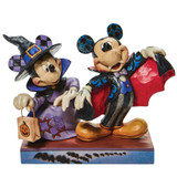 Jim Shore Disney Traditions Witch Minnie Vampire Mickey Halloween Figurine Pre-Order Front