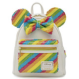 Loungefly Minnie Mouse Sequin Rainbow Mini Backpack