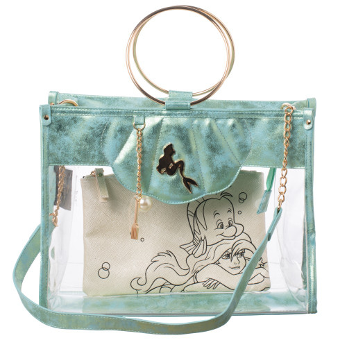Crossbody: Little Mermaid Clear Tote With Removeable Pouch