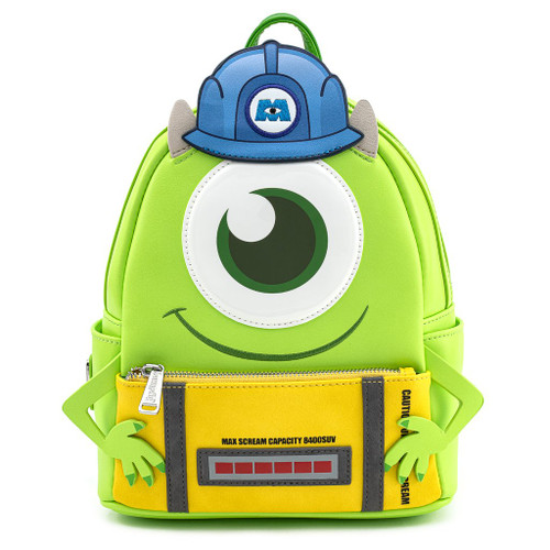 Loungefly PIXAR Monsters Inc. Mike Wazowski Scare Can Cosplay Mini Backpack WDBK1187