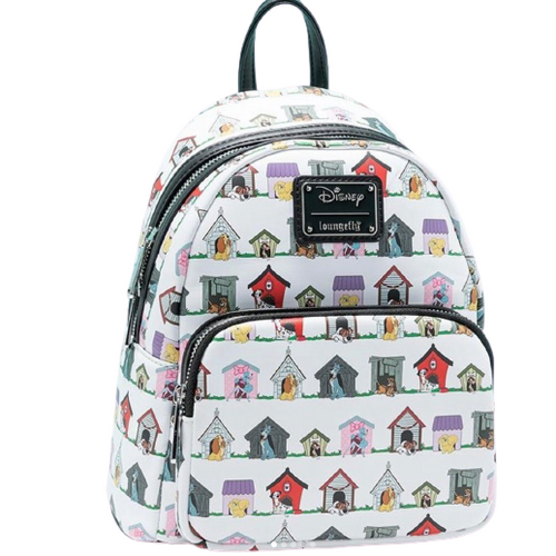 Loungefly Mini Backpack: Disney Dog Houses AOP