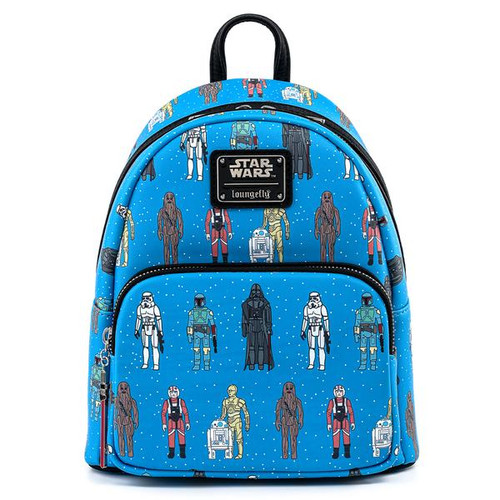 Loungefly Star Wars Action Figures AOP Mini Backpack STBK0185