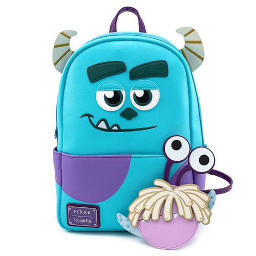 Loungefly PIXAR Monsters Inc. Sulley Cosplay Mini Backpack w/Boo Coin Purse WDBK1188