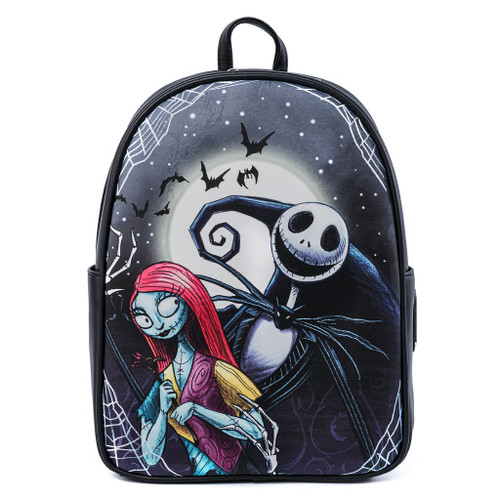Loungefly Nightmare Before Christmas Jack & Sally Simply Meant To Be Mini Backpack WDBK1243