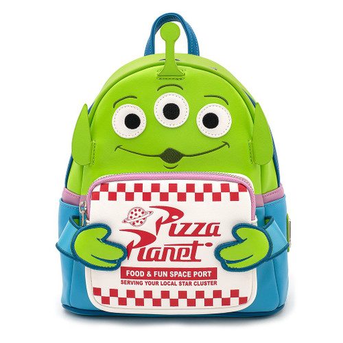 Loungefly Toy Story Pizza Planet Alien PIXAR Mini Backpack WDBK1036