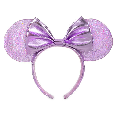 Disney Parks Minnie Mouse Metallic Lilac Ear Headband