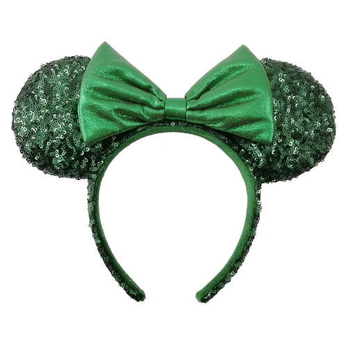 Disney Parks Ear Headband: Sequined Emerald Green