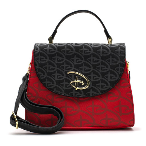 Loungefly Crossbody: Disney Logo (Red & Black/Debossed) WDTB1868