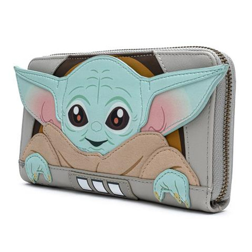 Loungefly Wallet: Star Wars Baby Yoda/Mandalorian The Child Cradle STWA0142