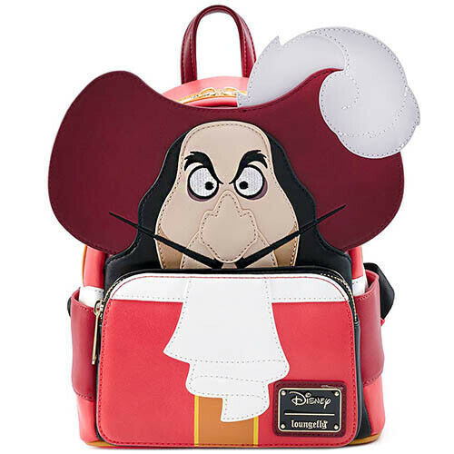 Loungefly Mini Backpack: Peter Pan Captain Hook Cosplay Disney Villains WDBK1150 Front