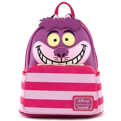 Loungefly Mini Backpack: Alice In Wonderland Cheshire Cat Cosplay WDBK1034 Front