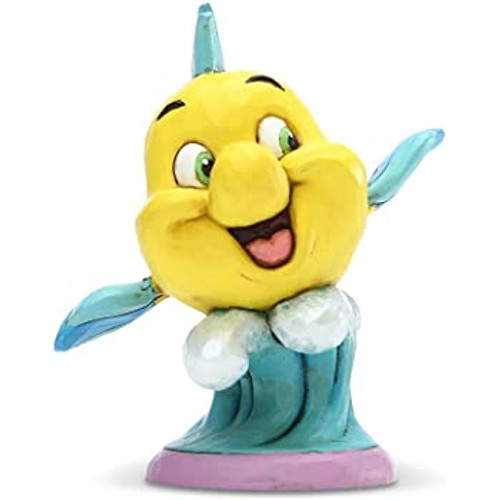 Figurine: Little Mermaid Flounder Personality Pose (Jim Shore)