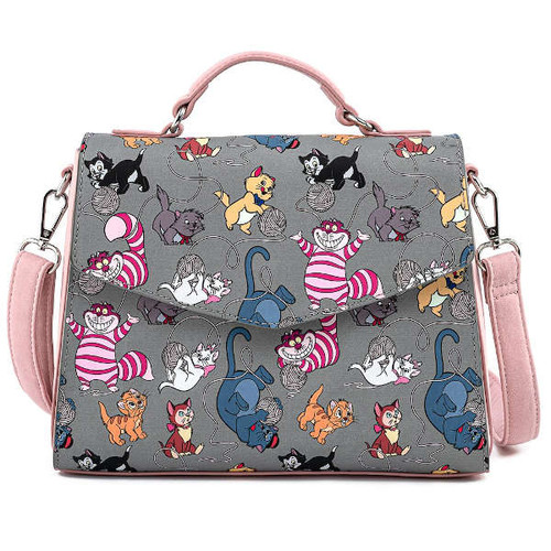 Loungefly Crossbody: Disney Cats AOP WDTB2033 Front