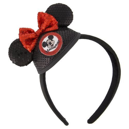 Disney Parks Ear Headband: Minnie Mouse Sequined Mouseketeer Mini Ear Hat
