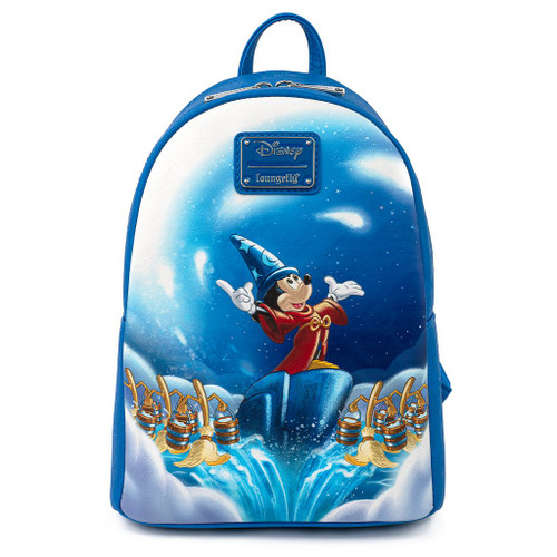 Loungefly Mini Backpack:  Fantasia Sorcerer Mickey WDBK1372 Front