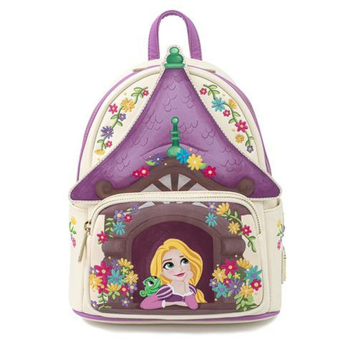 Loungefly Mini Backpack: Tangled Tower Scene WDBK1443 Front