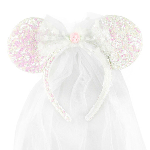 Disney Parks Ear Headband: Wedding Bride w/Veil