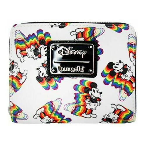 Loungefly Wallet: Sensational Six Rainbow Mickey Mouse