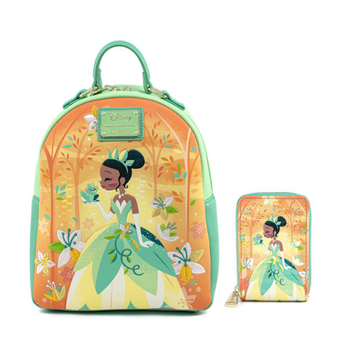 Loungefly Set: Princess & The Frog Tiana Mini Backpack & Wallet