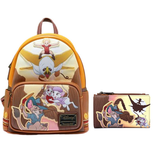 Loungefly Set: Rescuers Down Under Mini Backpack & Wallet