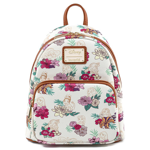 Loungefly Mini Backpack: Disney Princess Floral AOP WDBK1312 Front