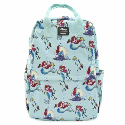 Loungefly Backpack: Little Mermaid Ariel Scenes AOP (Nylon) WDBK0963 Front