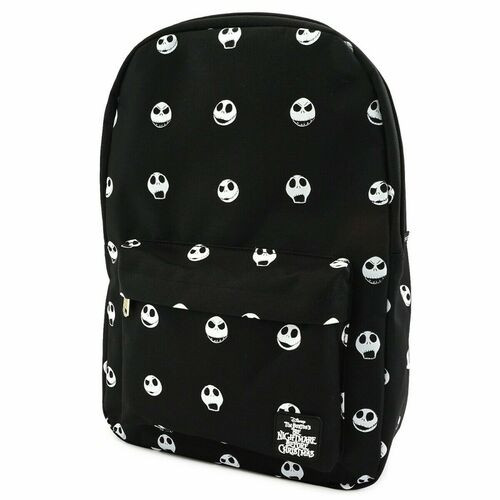 Loungefly Backpack: Nightmare Before Christmas Jack Skellington Faces AOP (Nylon) WDBK0807
