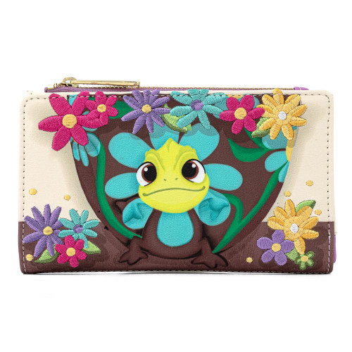 Loungefly Wallet: Tangled 10th Anniversary Pascal Flower (Flap) WDWA1522 Front
