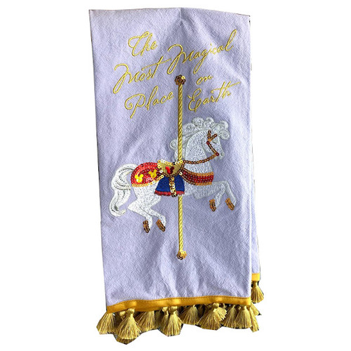 "Dish Towel: Carousel Horse ""The Most Magical Place On Earth"""