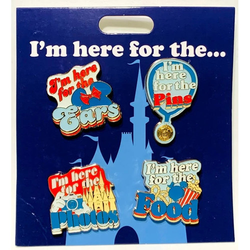 Disney Parks Pin Set: I'm Here For The...