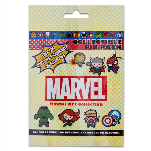 Disney Parks Pin Mystery Pack: MARVEL Kawaii Art (Yellow Bag)