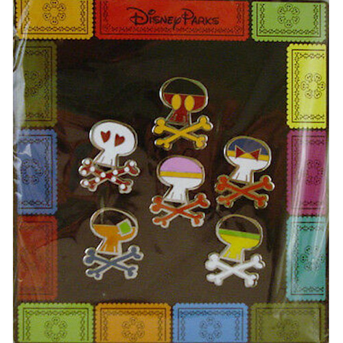 Disney Parks Pin Set: Mickey & Friends Skull & Crossbones