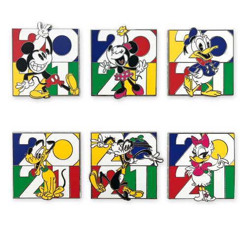 Disney Parks Pin Booster Set: 2021 Mickey Mouse & Friends