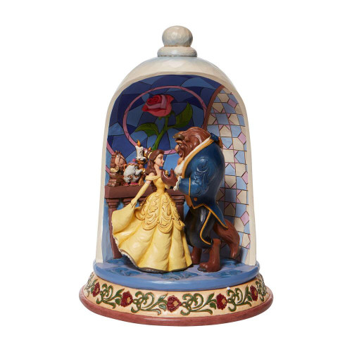 Jim Shore Disney Traditions Beauty And The Beast Rose Dome Scene Figurine Pre-Order