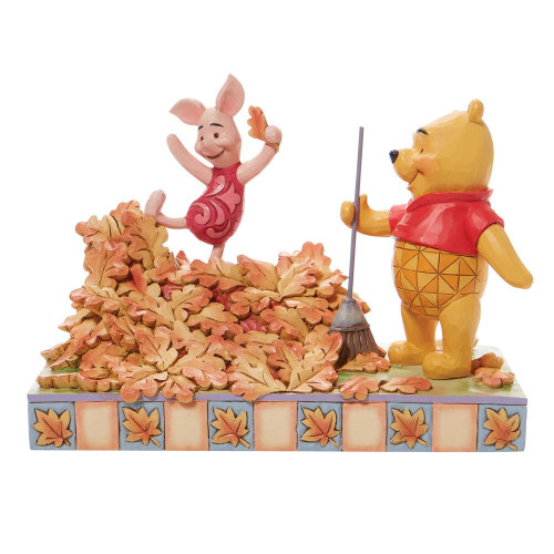 Jim Shore Disney Traditions  Winnie The Pooh And Piglet Fall Figurine Pre-Order