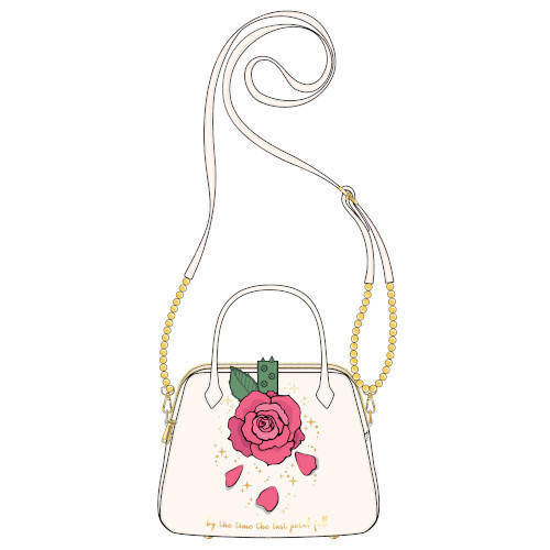 Loungefly Beauty And The Beast Rose Crossbody